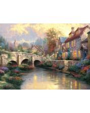 Puzzle Schmidt de 1000 piese - La vechiul pod, Thomas Kinkade