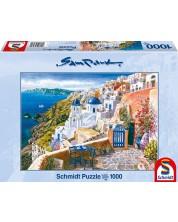Puzzle Schmidt de 1000 piese - Vedere in Santorini, Sa Park