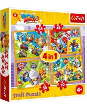 Puzzle Trefl 4 in 1 - Eroi Super Zings