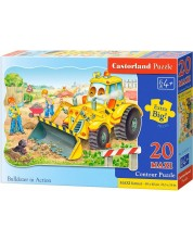 Puzzle Castorland de 20 XXL piese - Buldozer in actiune