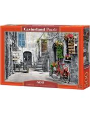 Puzzle Castorland de 500 piese - Aleea cu bicicleta rosie