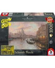 Puzzle luminos Schmidt de 1000 piese - Venetia, Thomas Kinkade