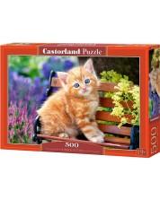 Puzzle Castorland de 500 piese -Pisoi roscat