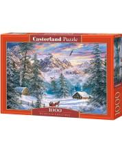 Puzzle Castorland de 1000 piese - Mountain Christmas
