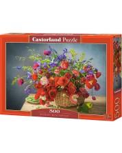 Puzzle Castorland de 500 piese - Bouquet with Poppies
