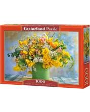 Puzzle Castorland de 1000 piese - Spring Flowers in green Vase