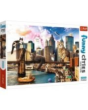 Puzzle Trefl de 1000 piese - Pisici in New York