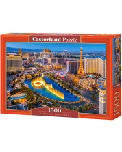 Puzzle Castorland de 1500 piese - Fabulosul Las Vegas