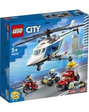 Constructor Lego City Police - Urmarire cu elicopterul politiei (60243)