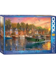 Puzzle Eurographics de 1000 piese - Apus in port, Dominic Davison -1