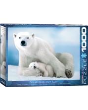 Puzzle Eurographics de 1000 piese – Ursi polari mamam si puii ei