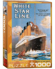 Puzzle Eurographics de 1000 piese – Poster cu Titanic, White Star Line