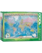 Puzzle Eurographics de 1000 piese – Harta lumii