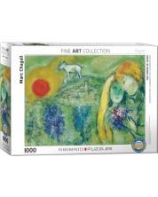 Puzzle Eurographics de 1000 piese – Indragostitii de la Vance Mark Chagall