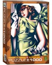 Puzzle Eurographics de 1000 piese – Fatatanara in verde, Tamara de Lempicka