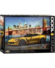 Puzzle Eurographics de 1000 piese - Corvette Z06 in New York -1