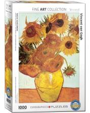 Puzzle Eurographics de 1000 piese – Douasprezece flori de floarea soarelui, Vincent Van Gogh