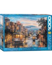 Puzzle Eurographics de 1000 piese - San Francisco, Paradisul tramvaielor, Eugene Lushpin