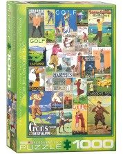 Puzzle Eurographics de 1000 piese - Golful in lume, Postere vintage