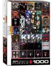 Puzzle Eurographics de 1000 piese - Kiss, coperte de  album