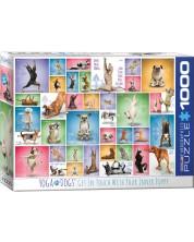 Puzzle Eurographics de 1000 piese - Yoga catelusii