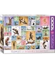 Puzzle Eurographics de 1000 piese - Yoga Pisici