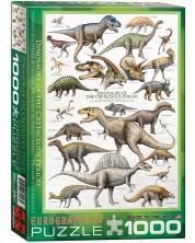 Puzzle Eurographics de 1000 piese – Dinozauri- perioada cretacică