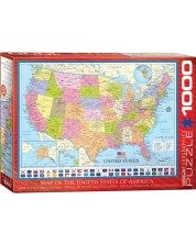 Puzzle Eurographics de 1000 piese – Harta Statelor Unite