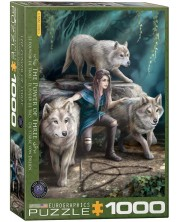Puzzle Eurographics cu 1000 de piese - The Power of Three by Anne Stokes -1