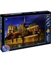 Puzzle D-Toys de 1000 piese - Catedrala Notre-Dame, Franta
