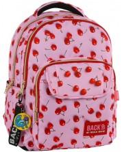 Ghiozdan scolar BackUP L31 - Cherry, cu 3 compartimente + cadou