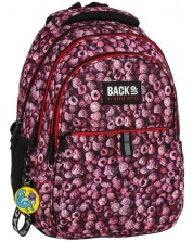 Ghiozdan scolar BackUP N30 - Raspberry, cu 3 compartimente + cadou