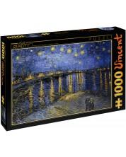Puzzle D-Toys de 1000 piese – Noaptea instelata peste Rona, Vincent van Gogh