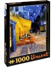 Puzzle D-Toys de 1000 piese – Terasa de cafenea noaptea, Vincent van Gogh