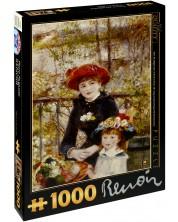 Puzzle D-Toys de 1000 piese – Doua surori (La terasa), Pierre Renoir