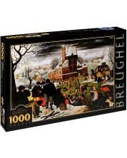 Puzzle D-Toys de 1000 piese – Iarna, Pieter Bruegel cel Tanar