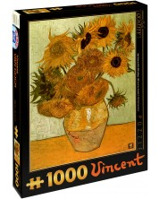 Puzzle D-Toys de 1000 piese – Floarea soarelui, Vincent van Gog