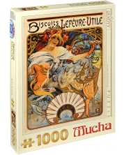 Puzzle D-Toys de 1000 piese – Biscuiti Lefevre-Utile, Alphonse Mucha