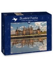 Puzzle Bluebird de 1000 piese - Castelul Chambord, Franta