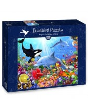 Puzzle Bluebird de 1500 piese - Lumea subacvatica luminoasa