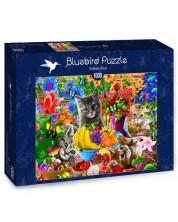 Puzzle Bluebird de 1000 piese - Distactie cu pisoi