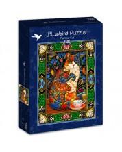 Puzzle Bluebird de 1500 piese - Pisica colorata