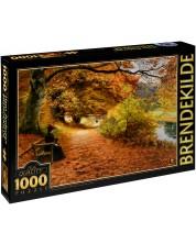 Puzzle D-Toys de 1000 piese – Alee printre copaci toamna, Hans Andersan Brendekilde