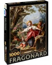 Puzzle D-Toys de 1000 piese – Joc baba-oarba, Jean-Honore Fragonard