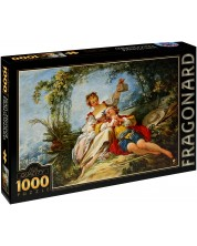 Puzzle D-Toys de 1000 piese – IndragostitiI fericiti, Jean-Honore Fragonard