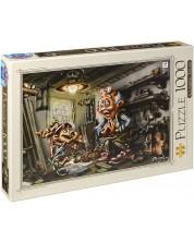 Puzzle D-Toys de 1000 piese – Pinocchio, Birou Donat