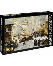 Puzzle D-Toys de 1000 piese – Maslenitsa, Boris Kustodiev