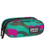 Penar scolar elipsoidal Cool Pack Clever - Emerald, cu 2 compartimente -1