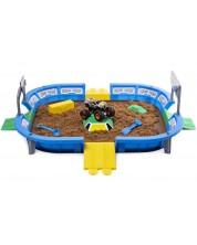 Set de joaca cu nisip kinetic Spin Master Monster Jam - Arena cu buggy exclusive, Deluxe -1