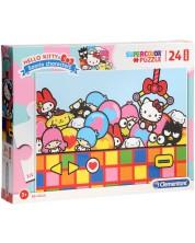 Puzzle Clementoni de 24 piese maxi - SuperColor Maxi Hello Kitty